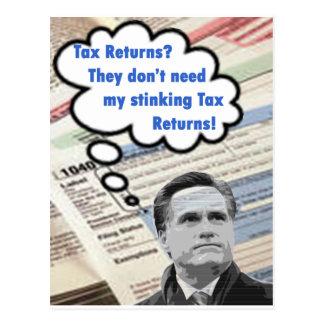 stinking tax returns postcard