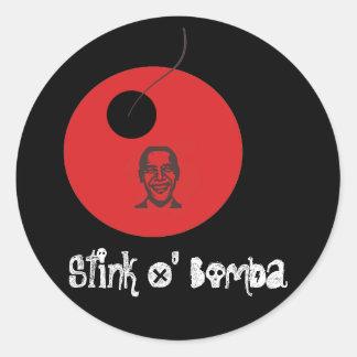 stinkobamacopy, Stink O' Bama Classic Round Sticker