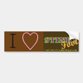 Stinky Foot Promo Bumper Sticker Car Bumper Sticker