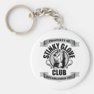 Stinky Glove Club Basic Round Button Keychain