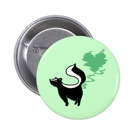 Stinky Love Skunk Pinback Button