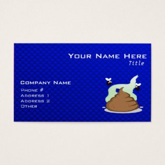 Stinky Poo; Blue Business Card