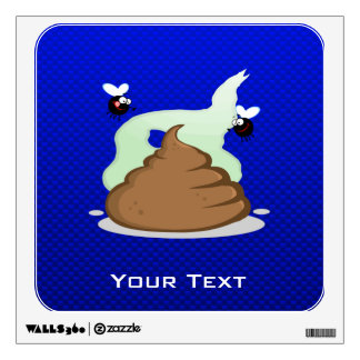 Stinky Poo Blue Wall Graphics