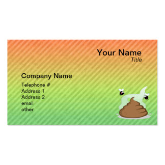 Stinky Poo design Business Card Template