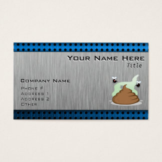 Stinky Poo; Metal-look Business Card