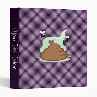 Stinky Poo; Purple 3 Ring Binder