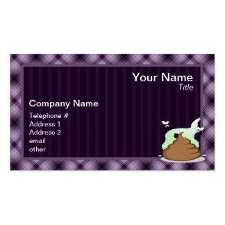 Stinky Poo; Purple Business Card