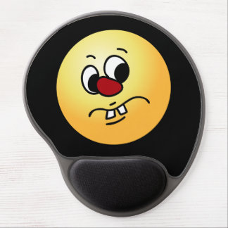 Stinky Smiley Face Grumpey Gel Mouse Pad