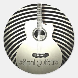 stinni guitars round stickers