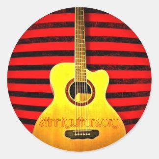 stinniguitars.org classic round sticker