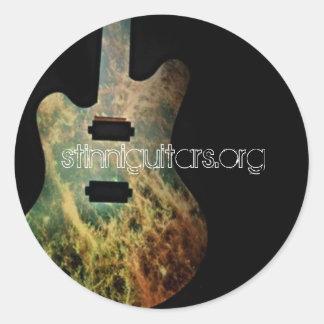 stinniguitars.org round sticker