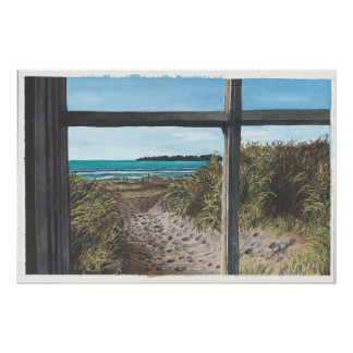 Stinson Beach, CA Painting   Poster