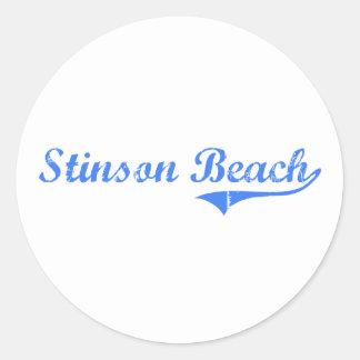 Stinson Beach California Classic Design Classic Round Sticker
