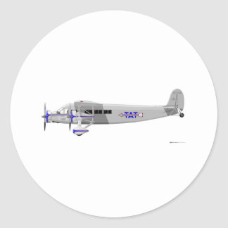 Stinson Model T Airliner Classic Round Sticker