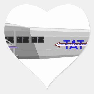 Stinson Model T Airliner NC11138 Heart Sticker
