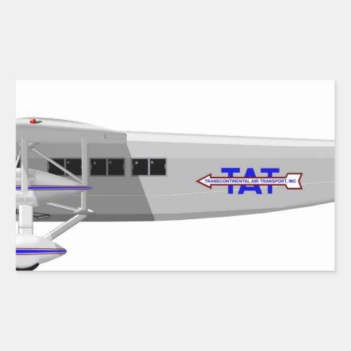 Stinson Model T Airliner Rectangular Sticker