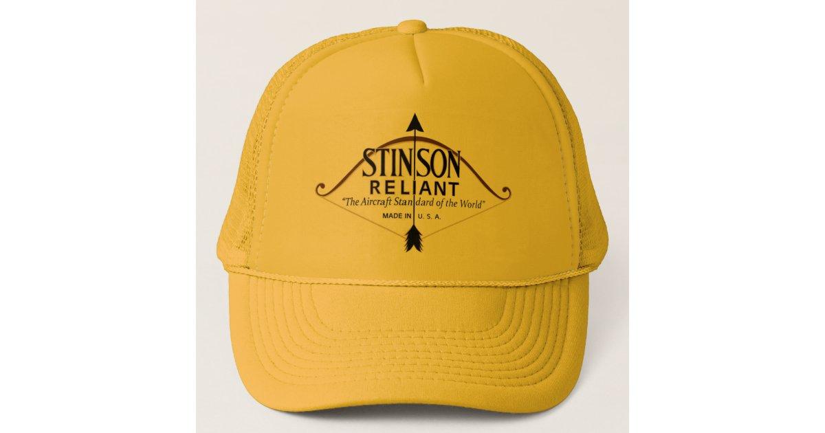 fd6ce1623d727 Stinson Reliant aircraft Trucker Hat