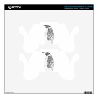 Stippled Penguin Decal For PS3 Controller