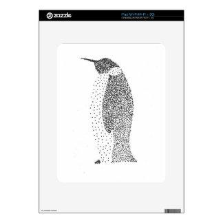 Stippled Penguin iPad Skins