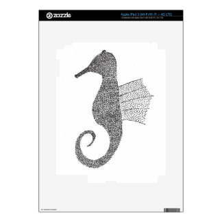 Stippled Sea Horse Decals For iPad 3