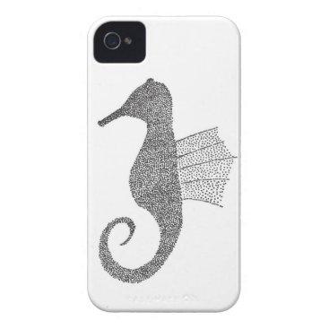 Beach Themed Stippled Sea Horse iPhone 4 Case-Mate Case