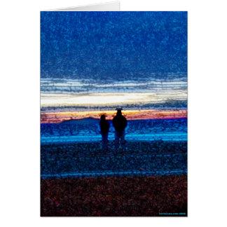 Stippled Sunset Card