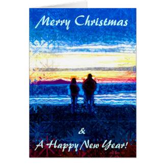 Stippled Sunset Christmas Card