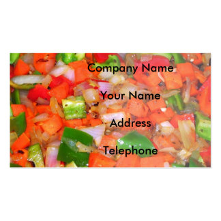 Stir Fried Vegetables Double-Sided Standard Business Cards (Pack Of 100)