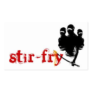 stir-fry: ninja noodles business card templates