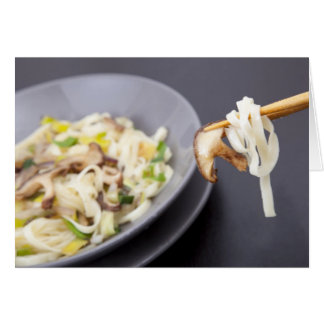 Stir Fry with Mushrooms Greeting Card