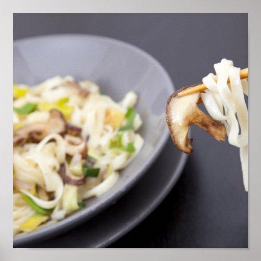 Stir Fry with Mushrooms Print