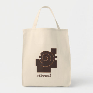stireed grocery tote bag