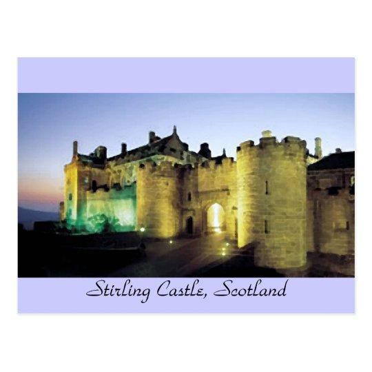 Stirling Castle at Dusk  Postcard