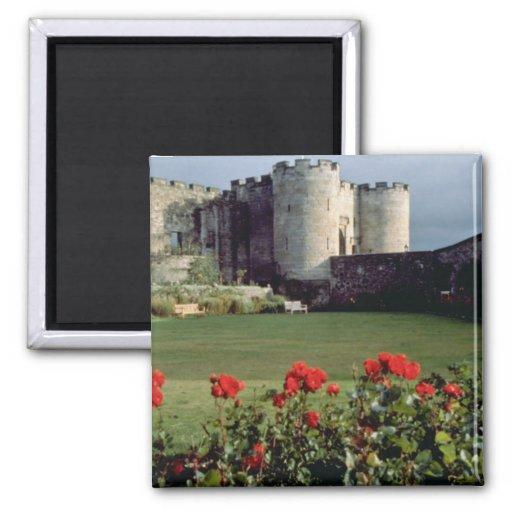 Stirling Castle, Scotland flowers 2 Inch Square Magnet