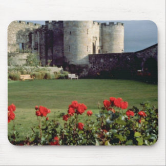 Stirling Castle Scotland flowers Mouse Pad