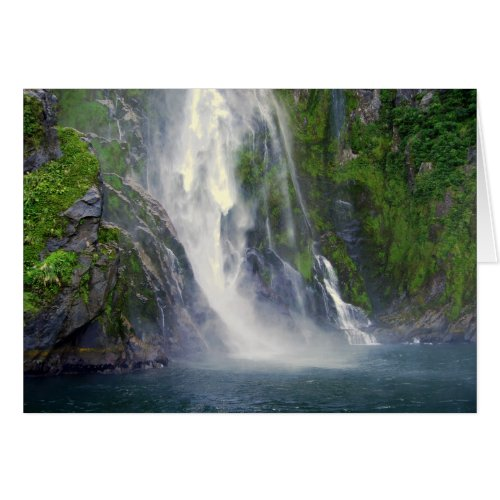 Stirling Falls, Milford Sound, NZ, Card