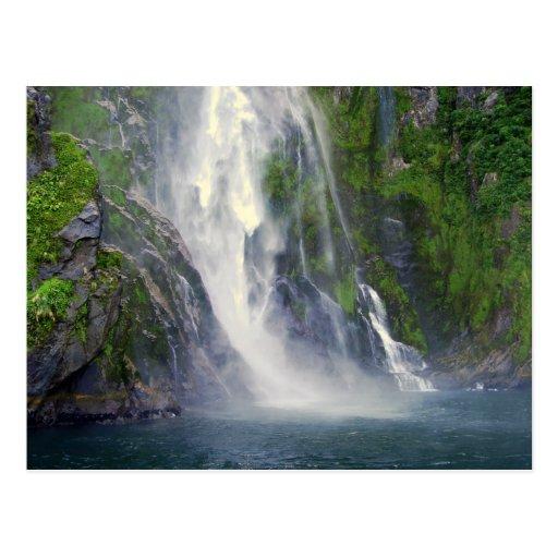 Stirling Falls Milford Sound Nz Postcard Zazzle