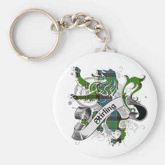 Stirling Tartan Lion Keychain