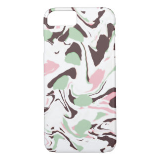 Stirred colors on white iPhone 8/7 case