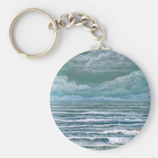 Stirred Up Sea Ocean Painting Beach Art Gifts Keychains