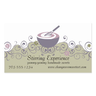stirring bowl whisk baking batter bakery busine... Double-Sided standard business cards (Pack of 100)