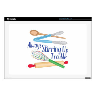 """Stirring Up Trouble Decals For 17"""" Laptops"""