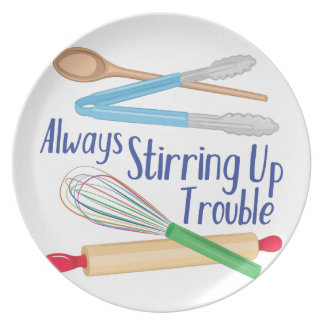 Stirring Up Trouble Dinner Plate