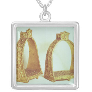 Stirrups belonging to Louis XIV Silver Plated Necklace