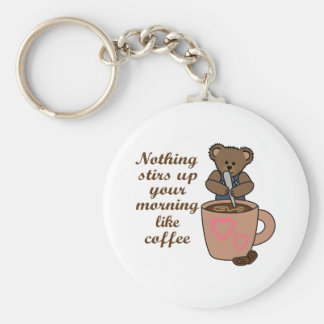 STIRS UP YOUR MORNING BASIC ROUND BUTTON KEYCHAIN