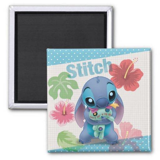 Stitch 2 Inch Square Magnet