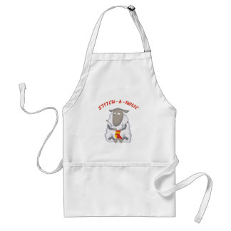 Stitch-a-holic Knitter Adult Apron