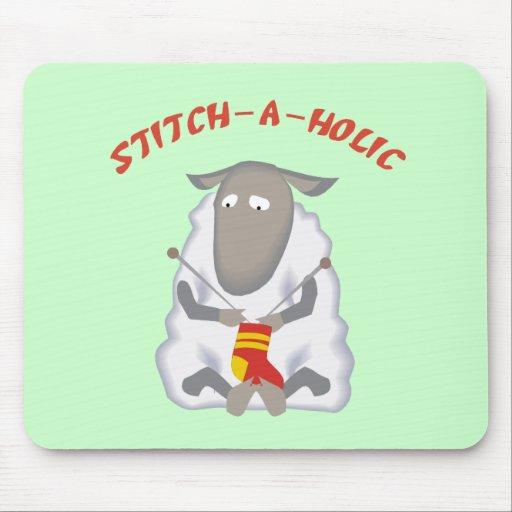 Stitch-a-holic Knitter Mouse Pad