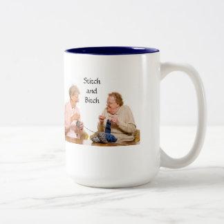 Stitch and Bitch Two-Tone Coffee Mug