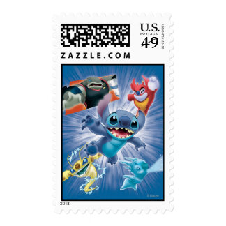 Stitch and Friends Postage Stamp
